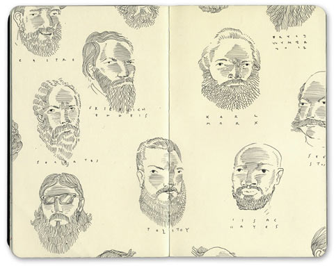 Sketchbook Illustrations by Bryce Wymer: Beards_01.jpg