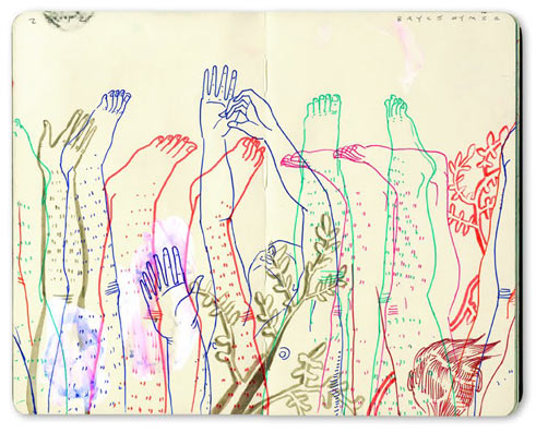 Sketchbook Illustrations by Bryce Wymer: Feet-Hands.jpg