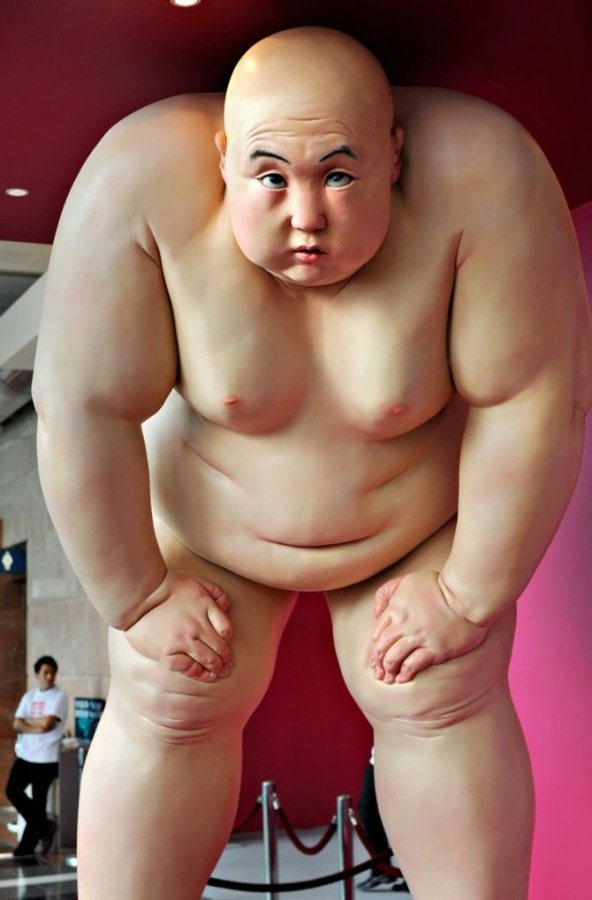 Naked Obese Sculptures by Mu Boyan: Mu-Boyan18.jpg