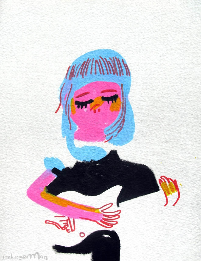 Jon Burgerman's Tumblr Girls: Tumblr-03Guitar_660_856.jpg