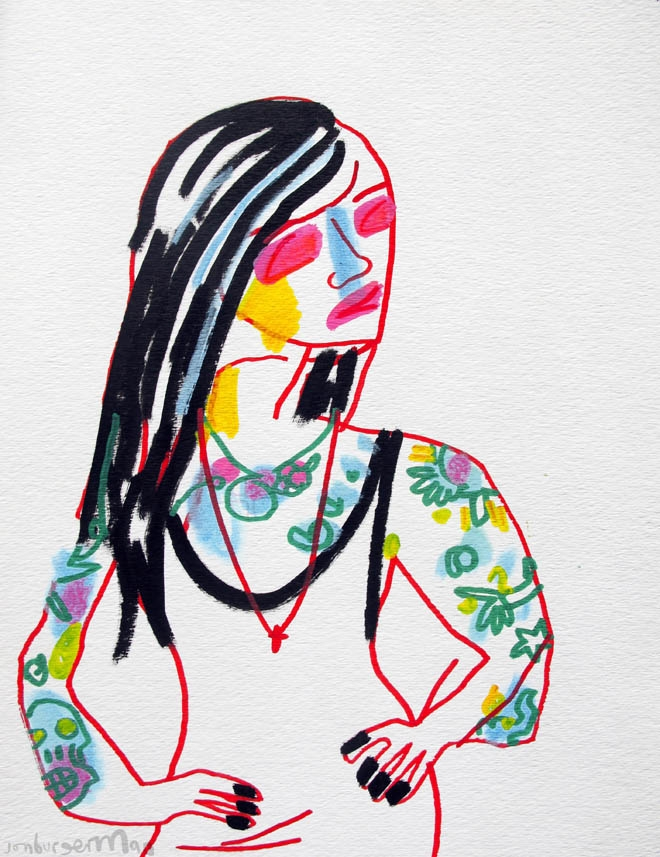 Jon Burgerman's Tumblr Girls: Tumblr-06Tatts_660_857.jpg