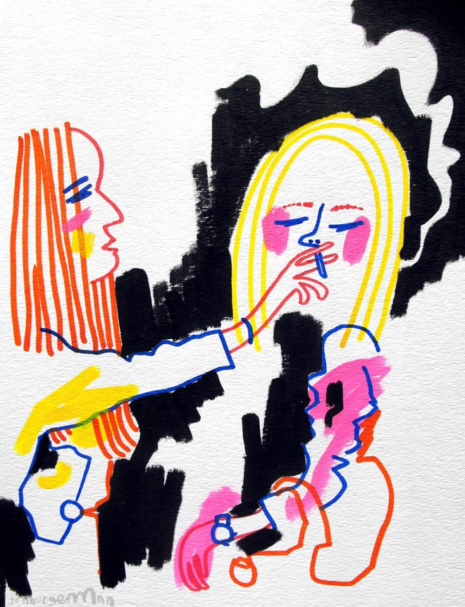 Jon Burgerman's Tumblr Girls: Tumblr-08Smokers_660_861.jpg