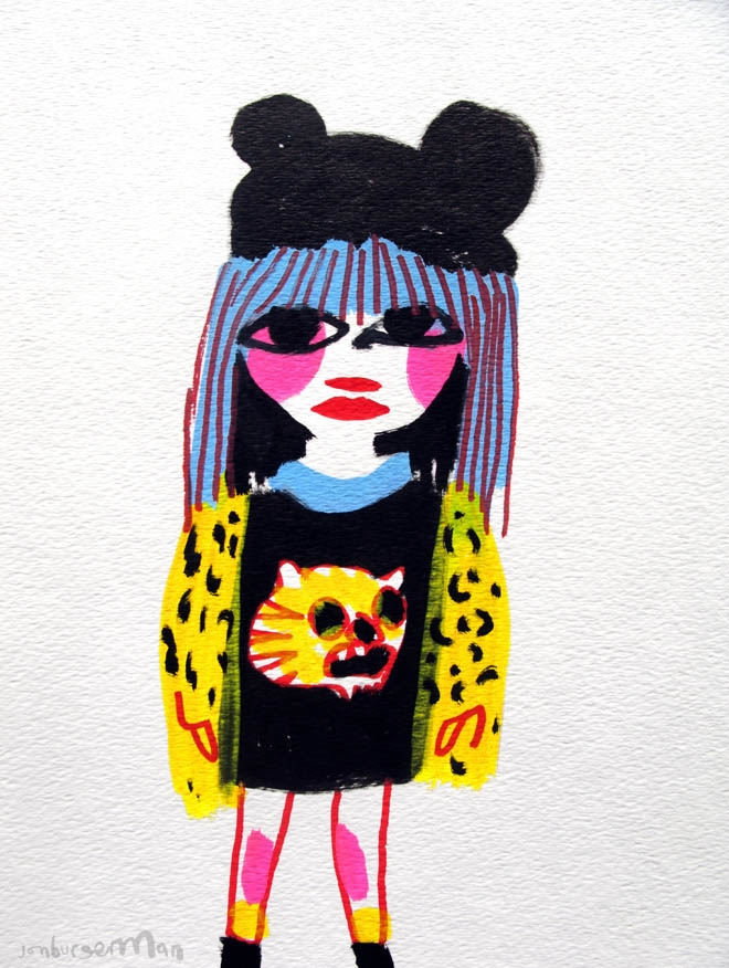 Jon Burgerman's Tumblr Girls: Tumblr-10Leopard_660_876.jpg