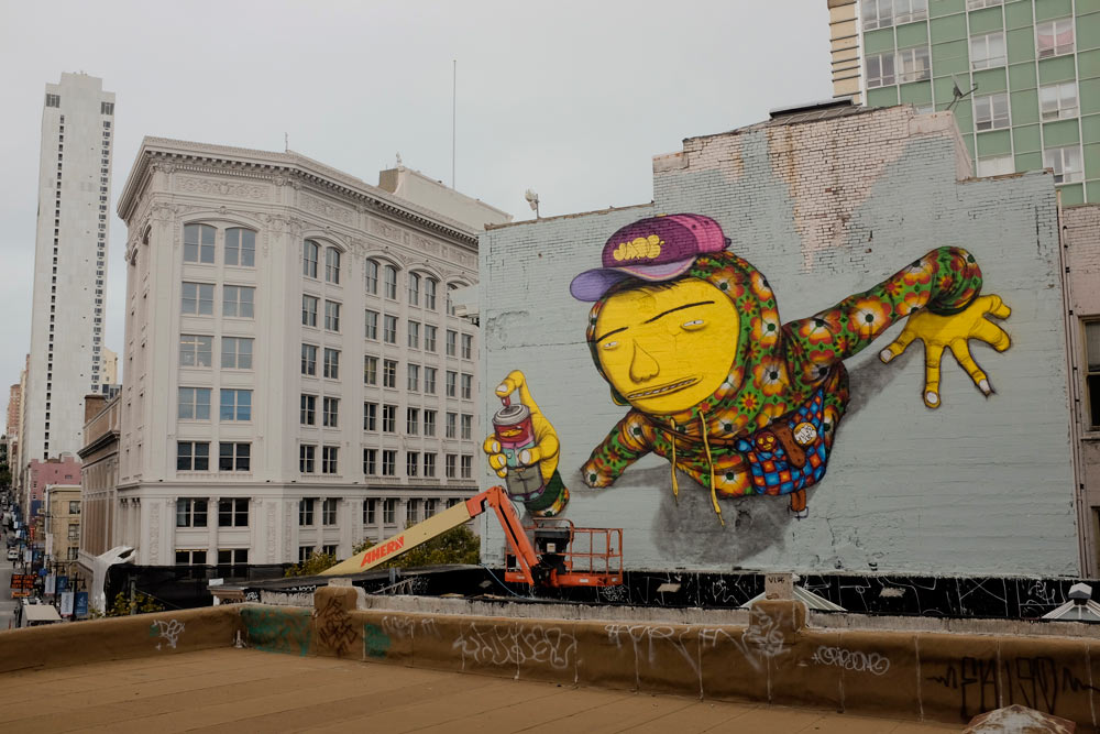 Os Gemeos repaints roof in San Francisco: osgemeos_2.jpg