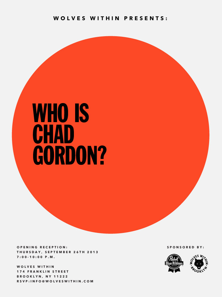 Who Is Chad Gordon? @ Wolves Within, Brooklyn: flyer_CHAD.jpg