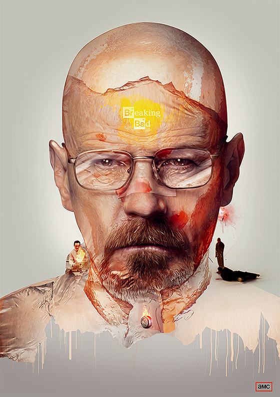Digital Art by Adam Spizak: adam_spizak_breaking_bad.jpeg