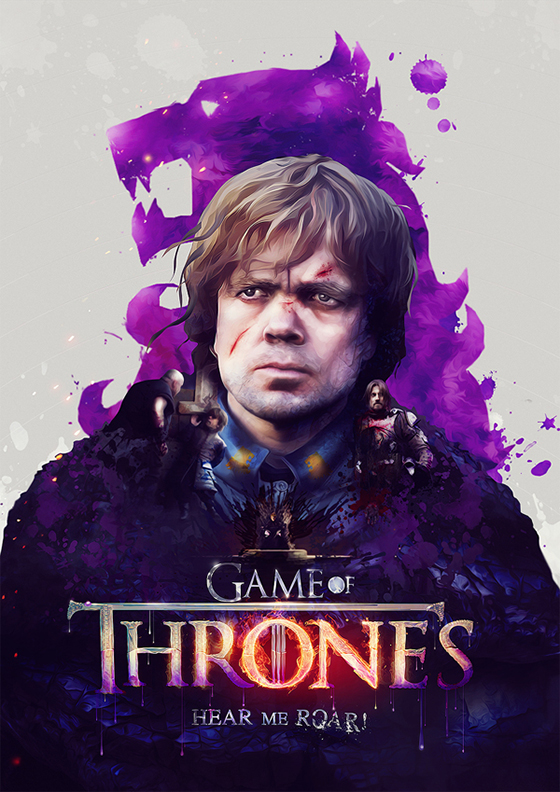 Digital Art by Adam Spizak: adam_spizak_game_of_thrones-tyrion.jpg