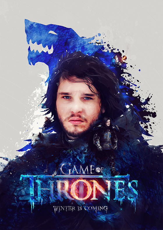 Digital Art by Adam Spizak: adam_spizak_jon_snow.jpg