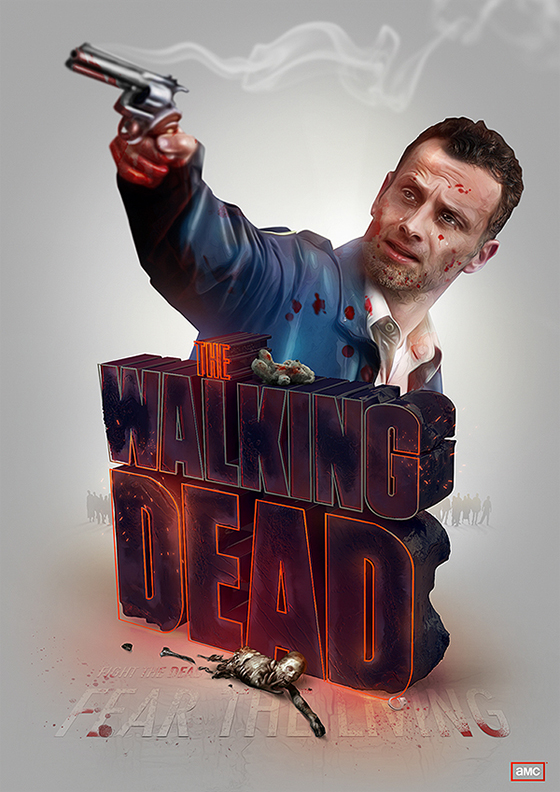 Digital Art by Adam Spizak: adam_spizak_walking_dead.jpeg