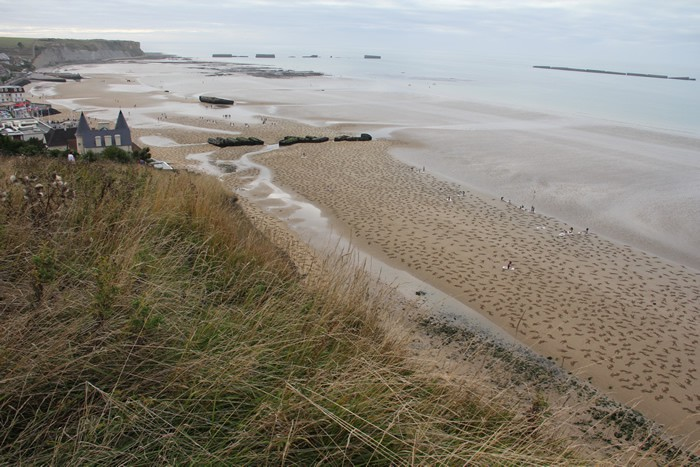 9,000 Stenciled Sand Silhouettes on Normandy Beach: sand-7.jpeg