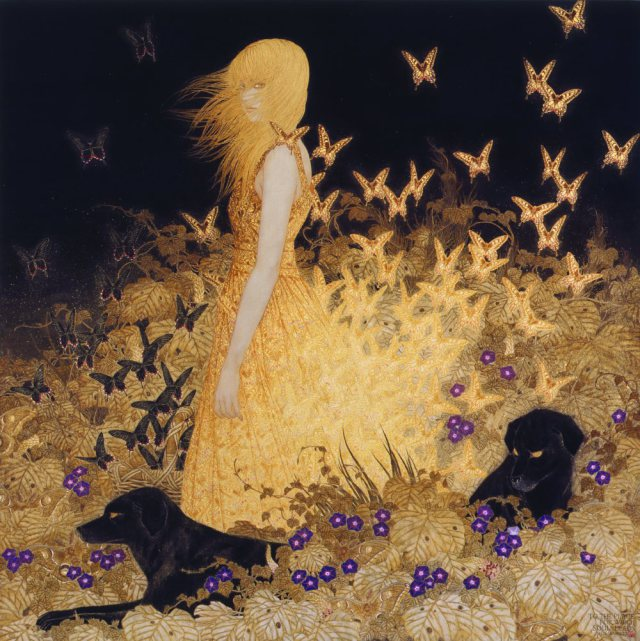 Paintings by Masaaki Sasamoto: higanhe.jpg
