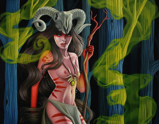 Sarah Joncas: The Erotic Paintings: Witchdoctor's Spell.jpg