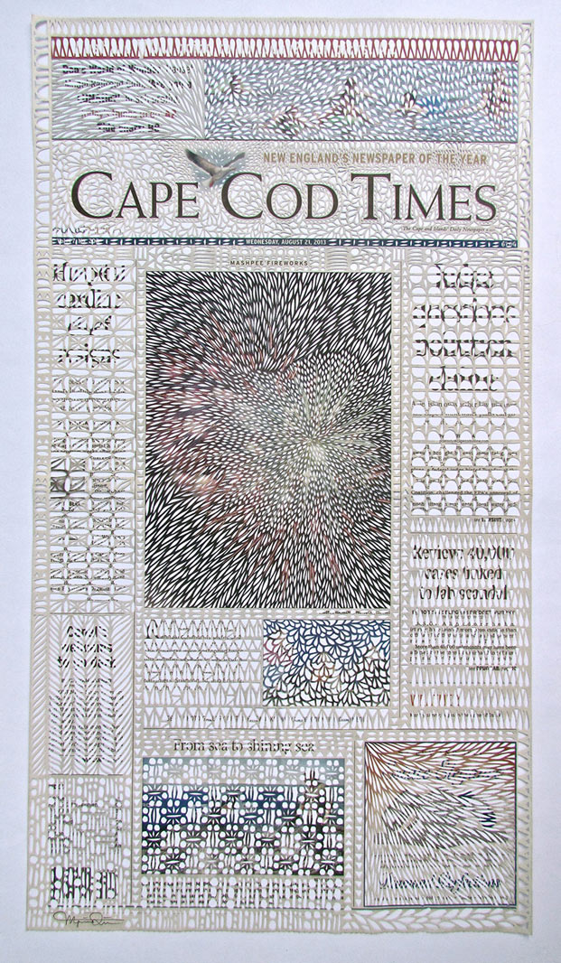 Intricately Cut Newspapers by Myriam Dion: dion-11.jpg