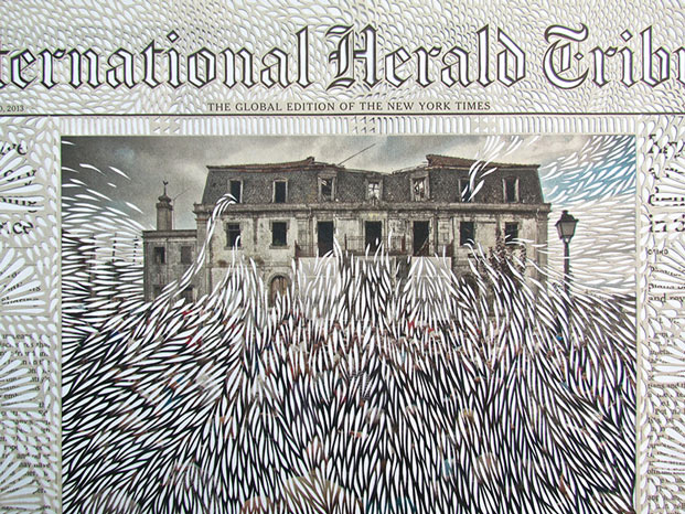Intricately Cut Newspapers by Myriam Dion: dion-4.jpg