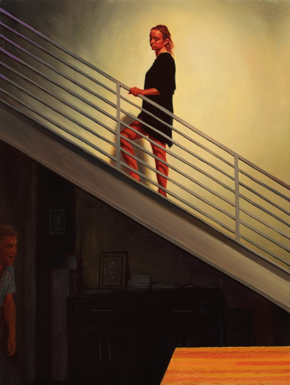 "Seth Armstrong ""Lovin' Thy Neighbor"" @ Thinkspace Gallery, Culver City: stairs.jpg"