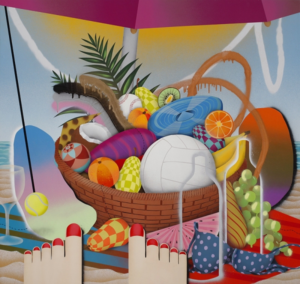 "Preview: Casey Gray ""Tropic"" @ White Walls, SF: beach_party_321_m.jpg"