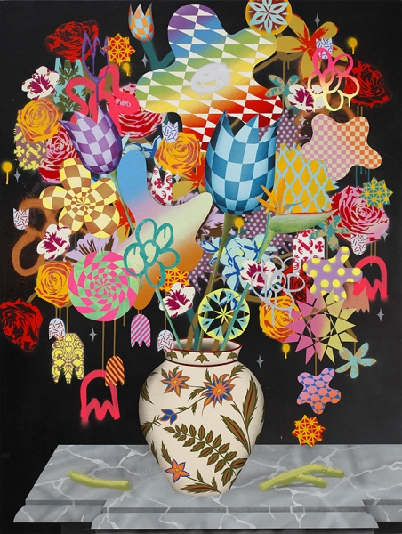 "Preview: Casey Gray ""Tropic"" @ White Walls, SF: still_life_w_flowers_26_m.jpg"