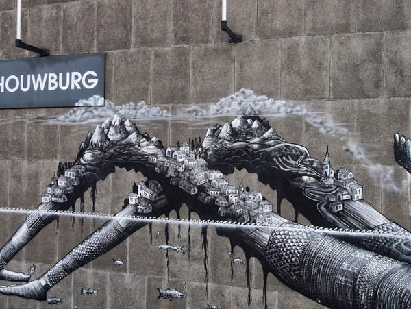 New Mural by Phlegm in Antwerp, Belgium: jux_phlegm1.jpg