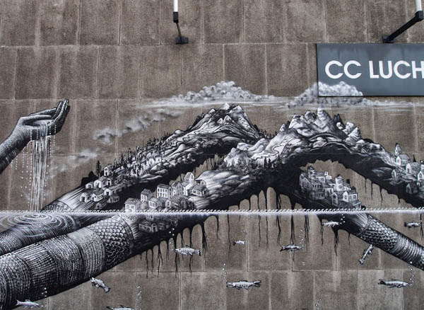 New Mural by Phlegm in Antwerp, Belgium: jux_phlegm3.jpg