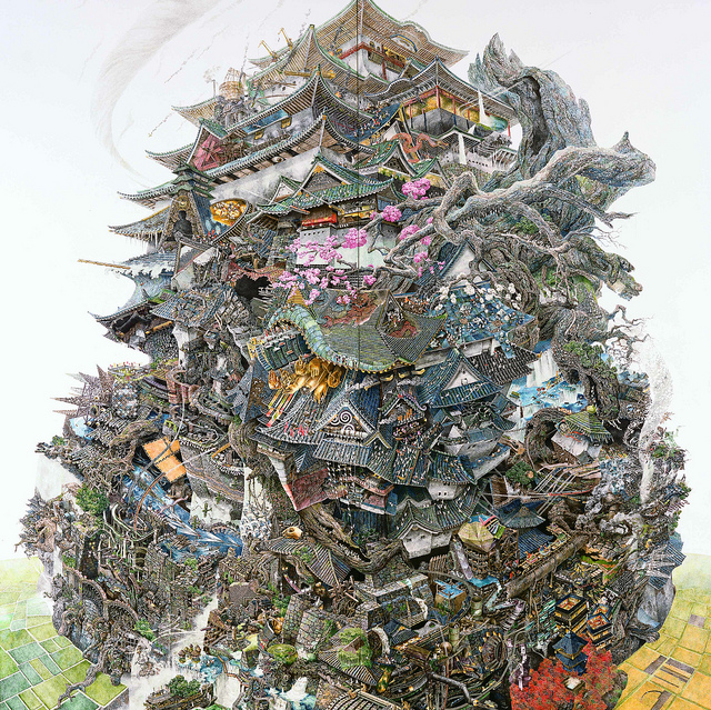 Monumental Illustrations by Manabu Ikeda: JuxtapozManabuIkeda01.jpg