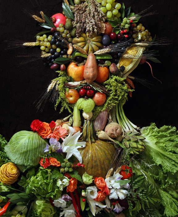 Portraits Made From Food, Plants and other Organics by Klaus E