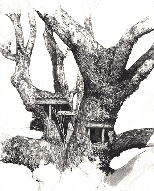 Rubert Smissen Mashes Human with Nature: treehoose.jpg