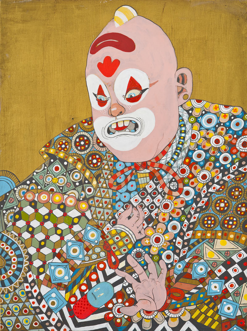 Juxtapoz for Art.com: Ferris Plock: FerrisPlock-Clown.jpg