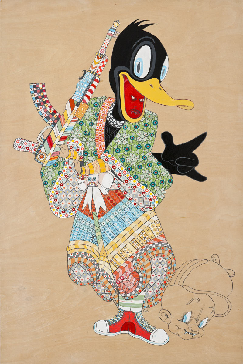Juxtapoz for Art.com: Ferris Plock: FerrisPlock-Daffy.jpg