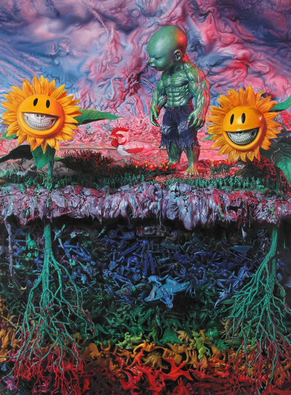 "Preview: RON ENGLISH ""POPAGANDASTAN"" @ COREY HELFORD GALLERY, Culver City: plastozoic temper tot.ptg36x48.JPG"