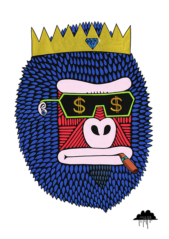 Mulga the Artist: King-Bling-Bruce-by-Mulga-the-Artist-72-dpi-500pxwide.jpg