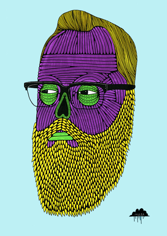 Mulga the Artist: Mulga-the-Artist-Herman-the-Hipster-zombie-with-glasses-beard-spectacles-hair-man-bearded.jpg