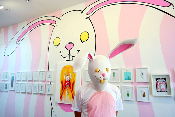 "Opening: Alex Pardee ""Bunnywith"" @ Gallery 1988:East, Los Angeles: BunnywithWall.jpg"