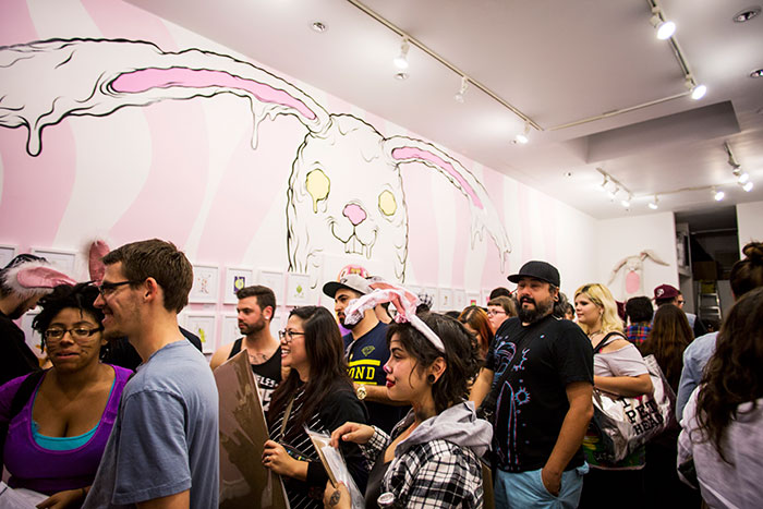 "Opening: Alex Pardee ""Bunnywith"" @ Gallery 1988:East, Los Angeles: IMG_7591-copy.jpg"