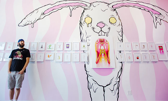 "Opening: Alex Pardee ""Bunnywith"" @ Gallery 1988:East, Los Angeles: IMG_7723-copy.jpg"