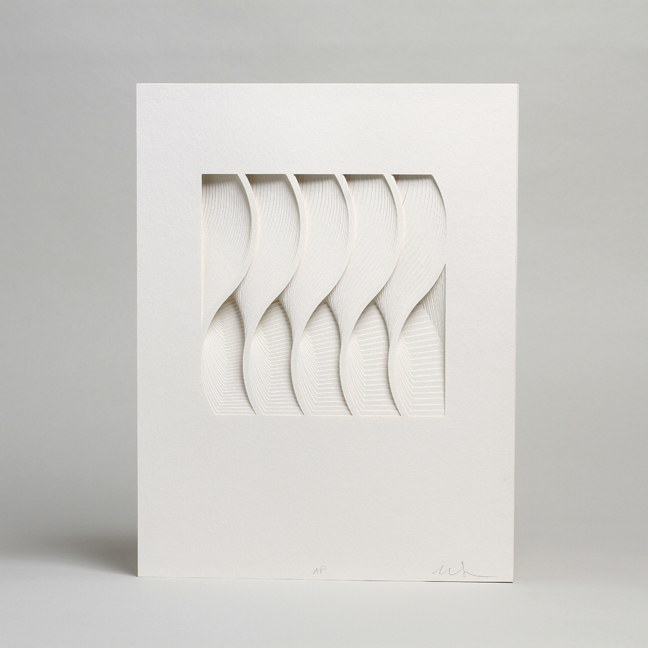 Paper Sculptures by Matt Shlian: 1WAVE- matthew shlian photo by cullen stephenson1.jpg