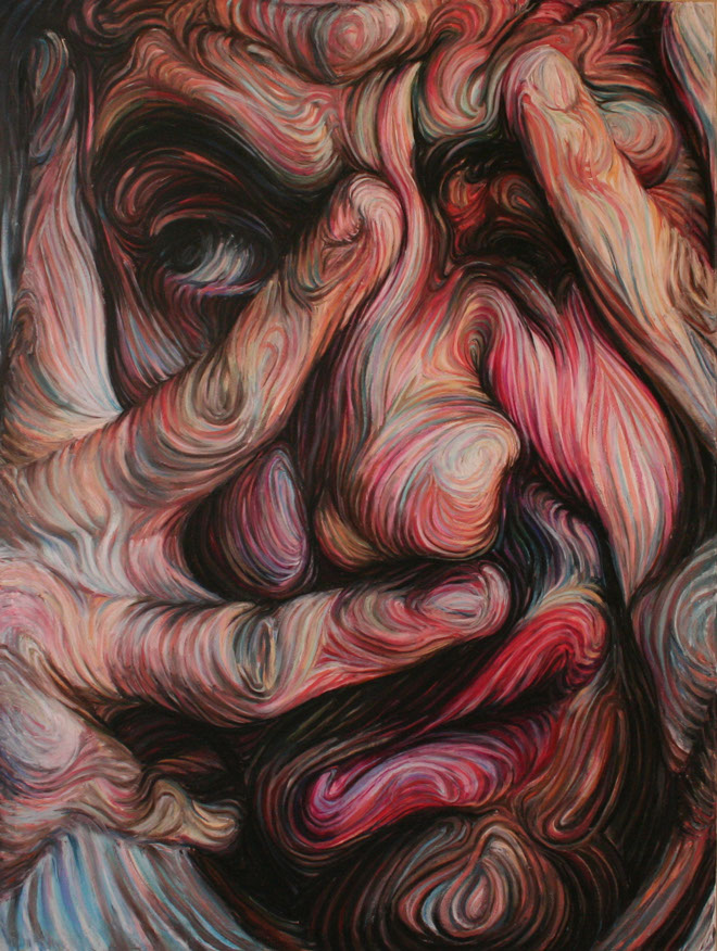 Nikos Gyftakis's Liquid Portraits: self-portrait1 160cmx120cm oil pastel on canvas.jpg