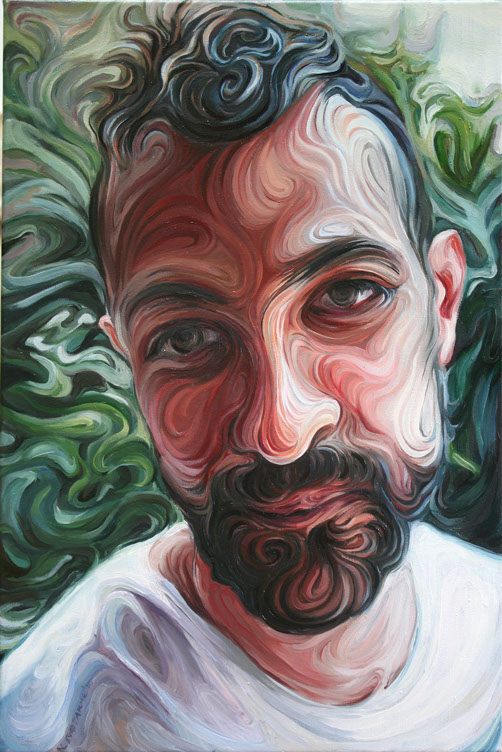 Nikos Gyftakis's Liquid Portraits: yiannis, oil on canvas, 45x30cm.jpg
