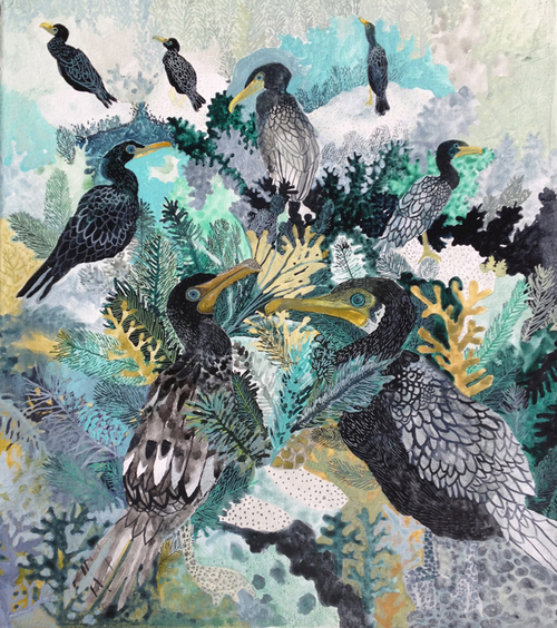 Magic Migration of Michelle Morin: cormorants1.jpg
