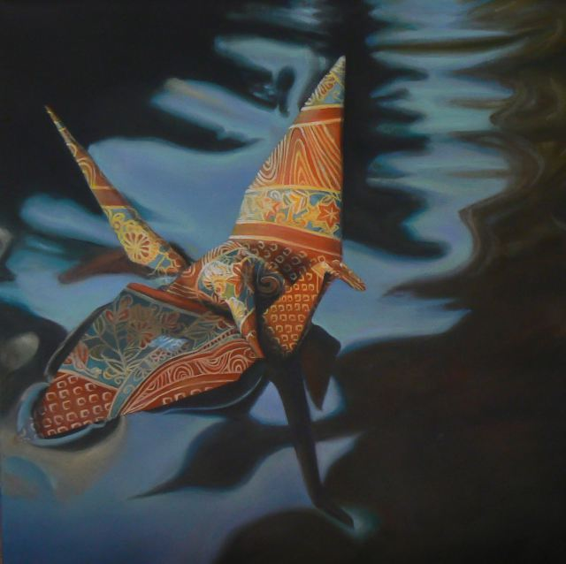 "Ariel DeAndrea ""Dreams Of Flight"" @ Thinkspace, Culver City: arielcrane2.jpg"