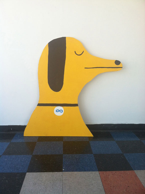 Wood-Cutout Paintings by Nathaniel Russell: dog.jpg