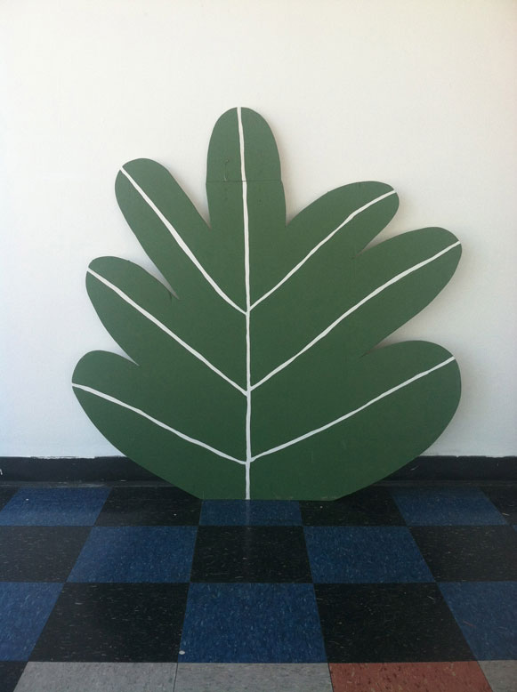 Wood-Cutout Paintings by Nathaniel Russell: plant.jpg