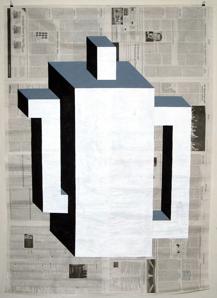Newsprint Paintings by Gabriel Vormstein: GB0022_Untitledkanne_2005.jpg