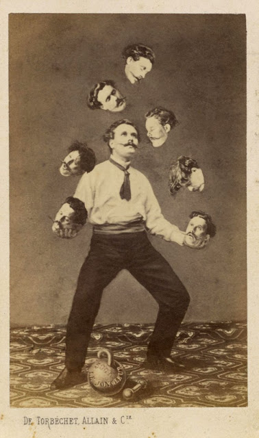 """Faking It,"" Manipulated Photography Before Photoshop: 5-_man-juggling-his-own-head_unidentified-artist-web.jpg"