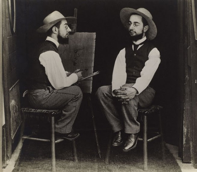 """Faking It,"" Manipulated Photography Before Photoshop: 6-_henri-de-toulouse-lautrec-as-artist-and-model_maurice-guilbert-web.jpg"