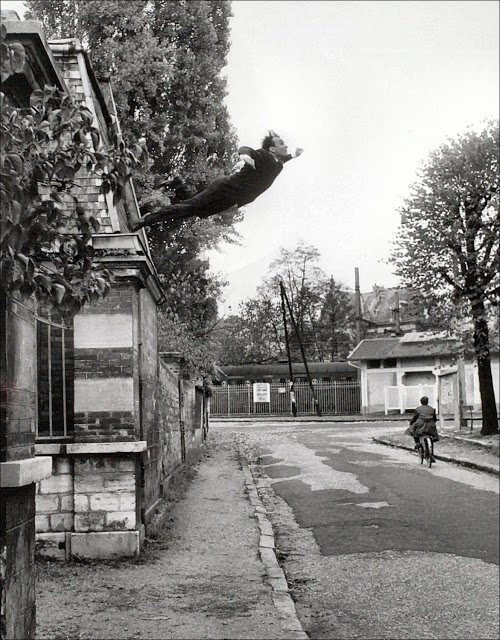 """Faking It,"" Manipulated Photography Before Photoshop: Leap into the Void-Yves Klein.jpg"