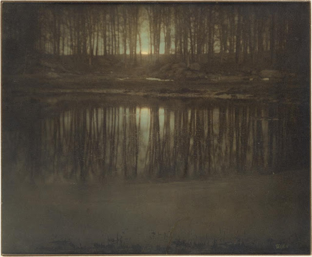 """Faking It,"" Manipulated Photography Before Photoshop: The Pond - Moonrise - Edward Steichen.jpg"