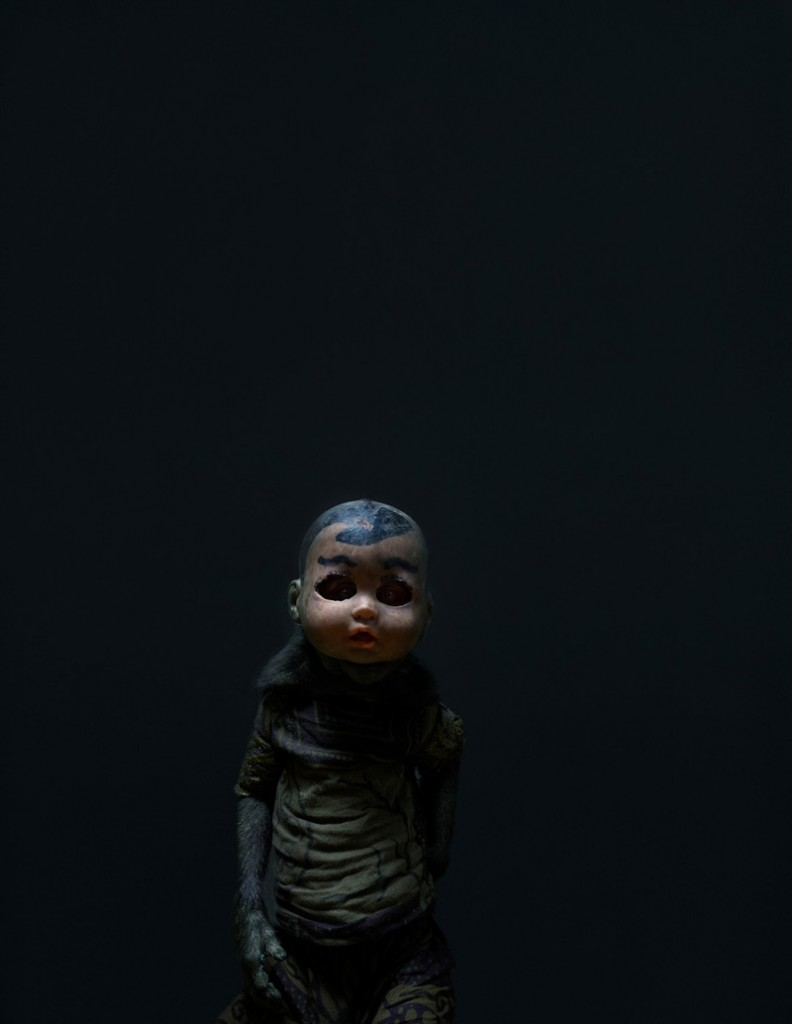 Creepy Photos of Monkeys Wearing Doll Masks: Perttu-Saksa_web12-792x1024.jpg