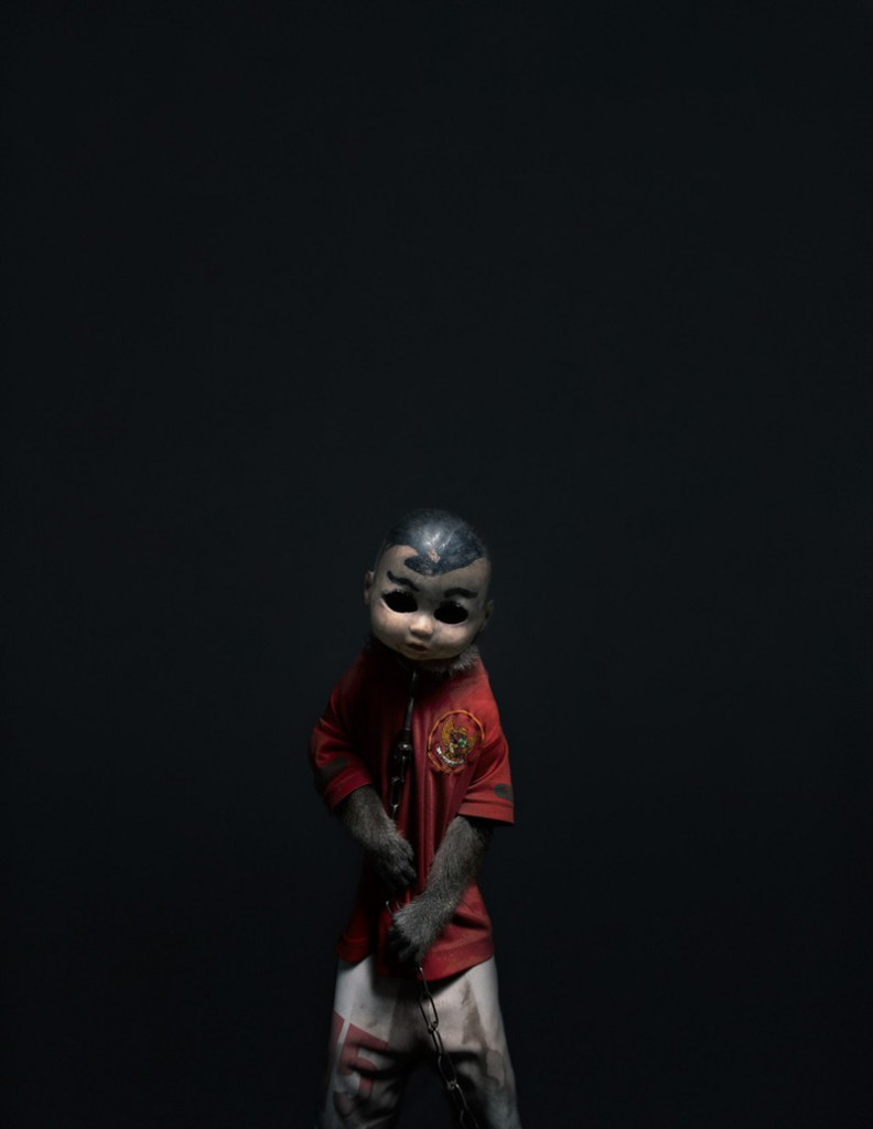 Creepy Photos of Monkeys Wearing Doll Masks: Perttu-Saksa_web13-792x1024.jpg