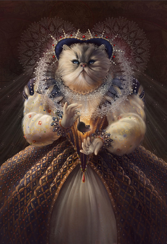 Christina Hess: Animals from History: meow.jpg