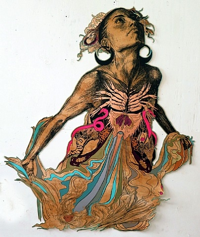 "Chandran Gallery and Juxtapoz Magazine present ""The Chandran Gallery Beach House"": Miami Beach, Dec 5-7: Swoon.jpg"